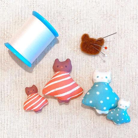 布人形(S)クマのロンド/ネコのシャルル●オーダー商品/お届け6月中旬〜下旬