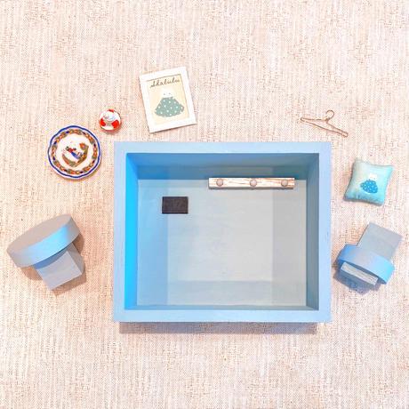 ドールハウスセット/ネコのシャルル(ブルー)●オーダー商品/お届け6月中旬〜下旬