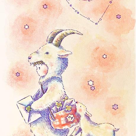 原画/山羊座-Capricorn-(額入り)