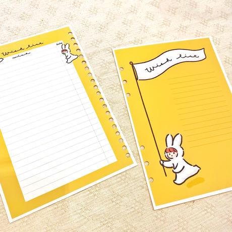 Wish list&シールシート【A5手帳リフィル】厚紙タイプ