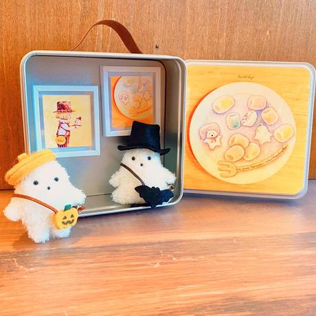 おめかしセット/黄色ベレー帽とかぼちゃポシェット/黒いハットとコウモリポシェット/おばけフェア作品  のコピー