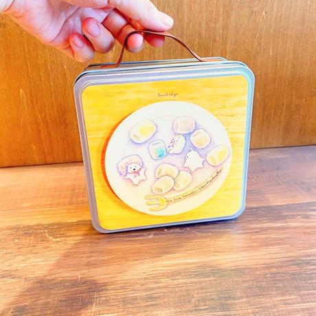 缶トランクL/マシュマロたましいちゃん/おばけフェア作品