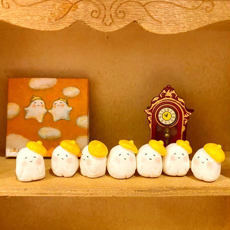 豆粒マスコット/黄色いベレー帽のたましいちゃん/おばけフェア作品
