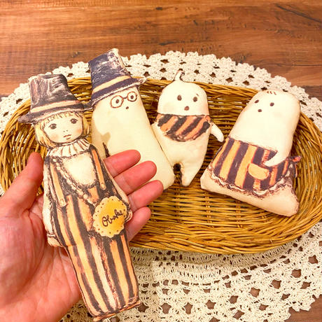布人形M●おばけちゃんとたましいちゃんとぼく/おばけフェア作品