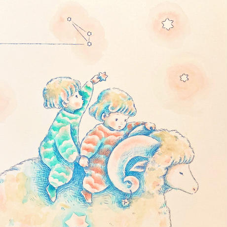 原画/牡羊座-Aries-(額入り)