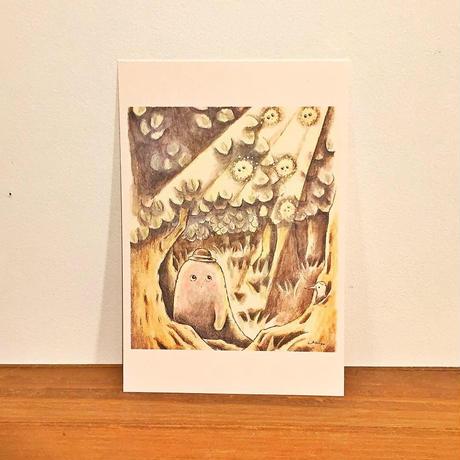 ポストカード(暗闇ちゃんと輝きちゃん)