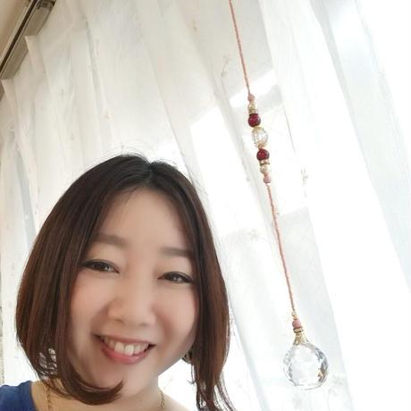 「愛」サンキャッチャー (ビンク系)