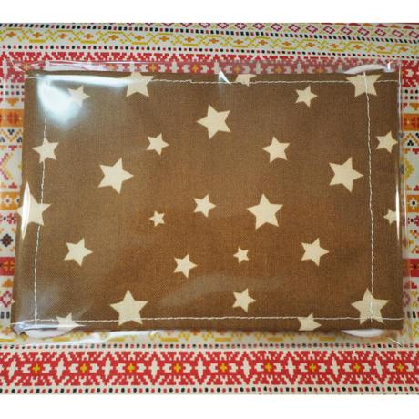 20034 マスク Mサイズ 星柄 茶色