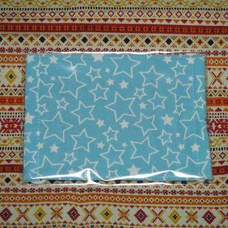 20063 マスク Mサイズ 星柄 水色