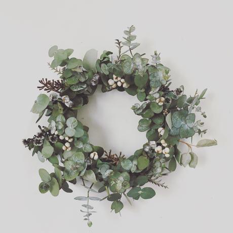"dried flower wreath ""small""25"