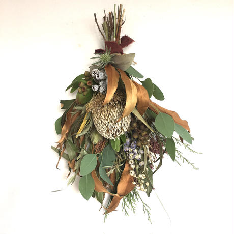 """dried flower swag """"small"""" 35"""