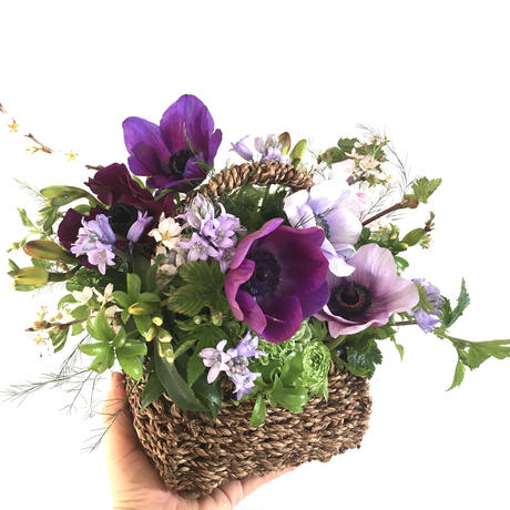 seasonal flower  arrangement[カゴ] h25 w30