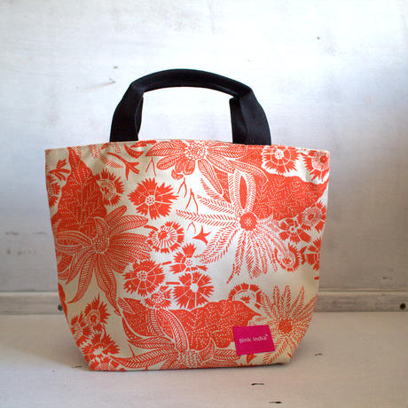 両柄画像通り!reversible bag- Paradise orange