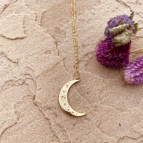 marino big moon necklace