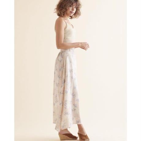 Leona big flower long skirt