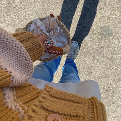 iiwi_ フリル巾着バスケット