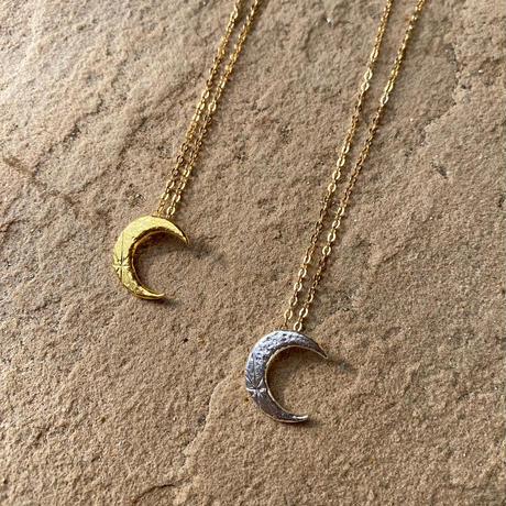ecoRAL moon with a star necklace gold moon top