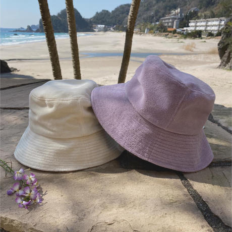 Lack of color pile bucket hat