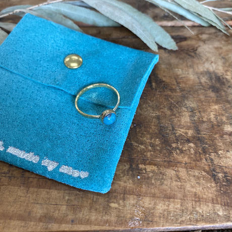 swell jewelry ターコイズブラスリング