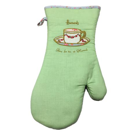 [Harrods] ハロッズ ミトン / 鍋つかみ オーブン グローブ コットン100% 耐熱手袋  (ティーカップ / Tea Cup)