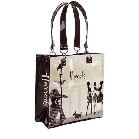 [Harrods] ハロッズ トートバッグ / ショッピングバッグ - Sサイズ (Knightsbridge with silver-tone)