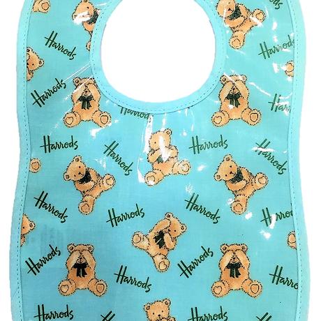 [Harrods] ハロッズ スタイ / PVC加工 よだれかけ 食事用エプロン キッズ 幼児用 Baby BIB (幼児用, お座りテディベア)