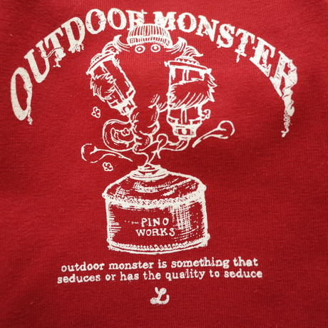 OUTDOORMONSTER×pinoworks DOG-T(4Lサイズ)