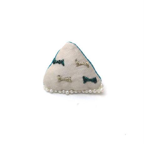 小さなキラキラ刺繍ブローチ003号【送料無料】