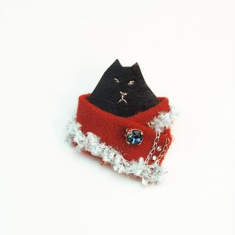 ゴージャス猫のブローチ003号(受注生産)【送料無料】