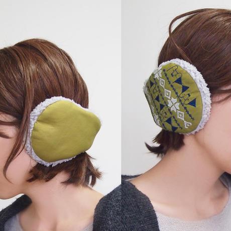 刺繍模様のイヤーマフ002号(受注生産)【送料無料】