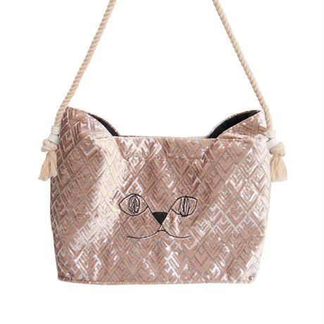 Pinpignon猫のショルダーバッグBキンキラ(国内定形外郵便送料無料)