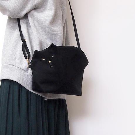 ☆Bigサイズ☆帆布の猫ポシェット001号【受注製作】