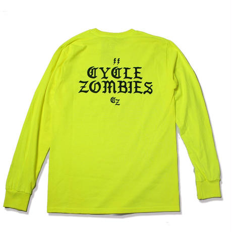 Cycle Zombies(サイクルゾンビーズ) BOLTZ Standard Fit Long Sleeve T-Shirt Lime Green
