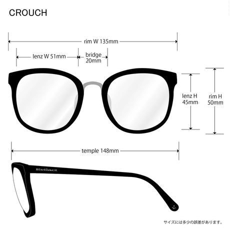 EVILACT(イーブルアクト) CROUCH フロストグラスフレームx調光レンズ