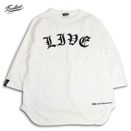 EVILACT(イーブルアクト) Backwards 3/4 sleeve Baseball T's 3色(ブラック・ナチュラル・ネイビー