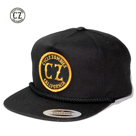 Cycle Zombies(サイクルゾンビーズ) CALI ROPE Premium Golf Snapback Black