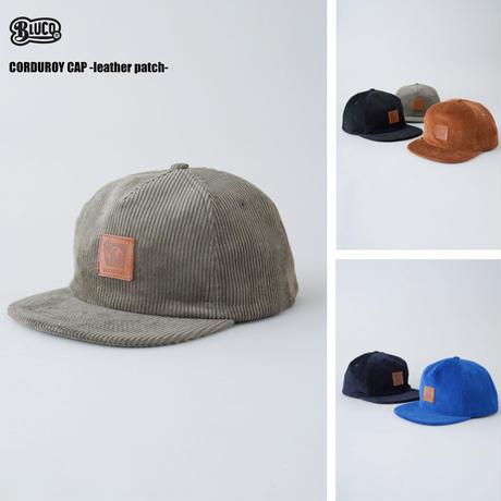BLUCO(ブルコ) OL-603-021 CORDUROY CAP - leather patch- 5色(ブラック・ブルー・キャメル・ネイビー・オリーブ)