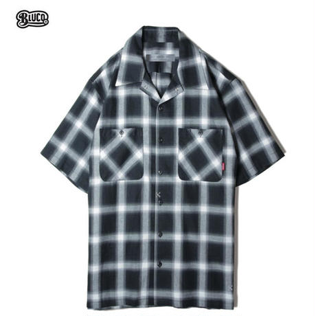BLUCO(ブルコ) OL-108CO-019 WORK SHIRTS S/S -ombre check- 全3色(ブルー・ブラック・イエロー)