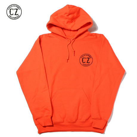 Cycle Zombies(サイクルゾンビーズ)GARAGE Pull Over Hooded Sweatshirt Orange