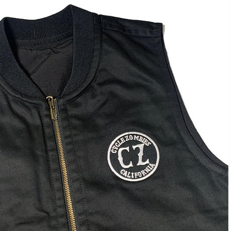Cycle Zombies(サイクルゾンビーズ) CZ x COWDEN CALIFORNIA VEST Black