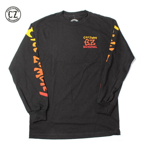 Cycle Zombies(サイクルゾンビーズ)BLACK LABELxCZ Premium Long Sleeve T-Shirt Black
