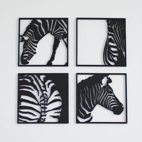 MDF WALL ART / zebra