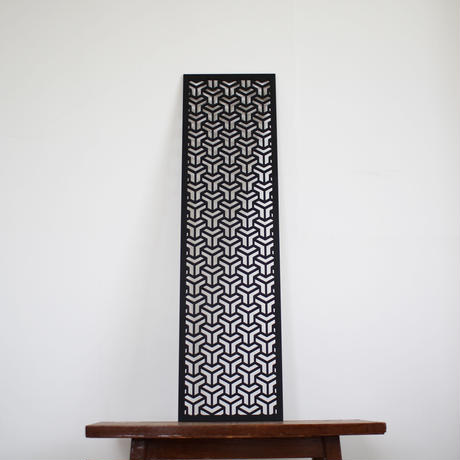 MDF WALL ART / cube(black)
