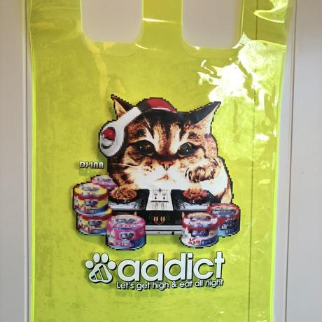 【猫DJ/ スケルトンエコバッグ】環境に配慮したエコなネコ