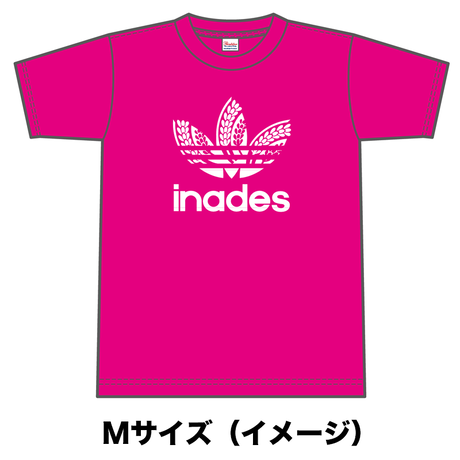 DJ-INAオフィシャルグッズ/inades  Tシャツ(ピンク)
