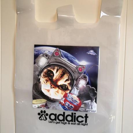 【宇宙猫/ スケルトンエコバッグ】地球に優しい宇宙猫