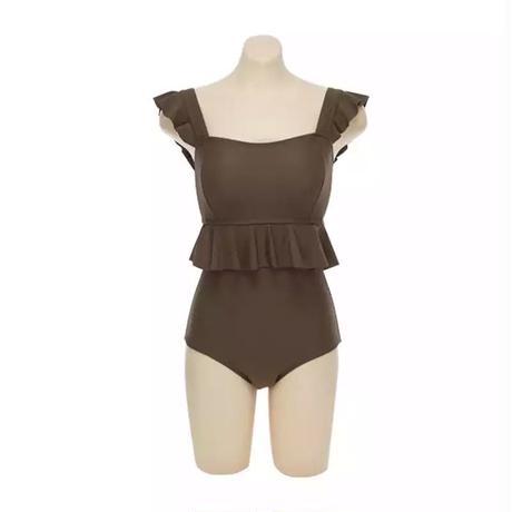 frill brown swimwear!
