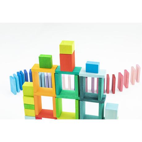 にじドミノ/カラーチャートブロック