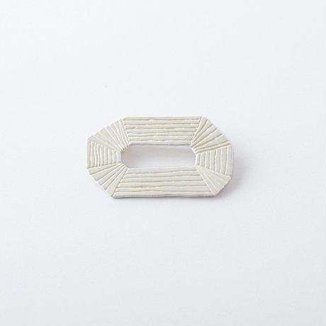 KAZ022 オクタゴンリングブローチ/ Octagon ring brooch