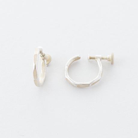 真鍮ハンマープレスイヤリング(WAVE)/  Brass Hammer Press Earrings (WAVE)